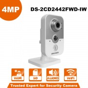HIKVISION DS-2CD2442FWD-IW WiFi Camera 4MP IR Cube Wireless IP Camera POE IP Camera Baby monitor wireless security cam