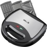 iBELL SM301 750 Watt 3 in 1 Sandwich Maker(Toast/Waffle/Grill) Toast(Black)