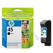 Касета HP 45, Black, p/n 51645AE - Оригинален HP консуматив - касета с глава и мастило