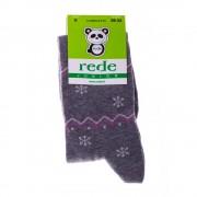 Детски чорапи Rede Junior сиви с ивици/точки