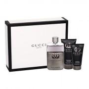 Gucci Guilty Pour Homme confezione regalo Eau de Toilette 90 ml + balsamo dopobarba 75 ml + doccia gel 50 ml uomo