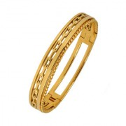 The Jewelbox Italian 22K Gold 316L Surgical Stainless Steel Openable Free Size Kada Bracelet Boys Men