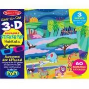 Книжка със стикери - 3D Местообитания - 19376 Melissa&Doug, 000772193764