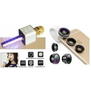 Mirza Q7 Microphone and Mobile Lens for SONY xperia sp(Q7 Mic and Karoke with bluetooth speaker   Mobile Lens Clip Lens )