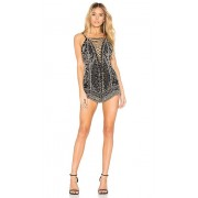 X by NBD Pandora Romper in Black. - size M (also in S,XS)