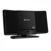 Auna V14-DAB Equipo estéreo vertical CD Sintonizador FM y DAB+ Bluetooth Negro