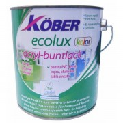 Kober Ecolux, vopsea email pe baza de apa, maro, interior / exterior 2.5 L