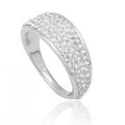 Stříbrný prsten kroužek s krystaly