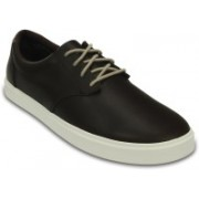 Crocs CitiLane Leather Lace-up Sneakers For Men(Brown)