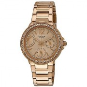 Casio Sheen Multi Fuction Analog Copper Dial Womens Watch - She-3805Pg-9Audr(Sx135)