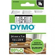 Dymo D1 Labelling Tape 53713 Black on White 24 mm x 7 m