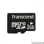Micro SD Card, 2GB, Transcend MICRO (TS2GUSDC)