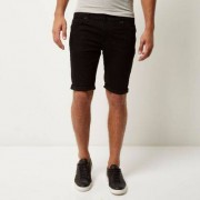 River Island Zwarte skinny-fit stretchdenim short