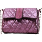 SS Leathers Women Evening/Party Purple Genuine Leather Sling Bag
