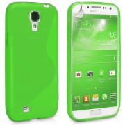 Green S Line Wave Gel Skin Case Cover for Samsung Galaxy S4 S IV i9500