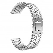 Aluminium Alloy Bracelet Scales Watch Band for Huawei Watch GT/Honor Watch Magic 22mm - Silver