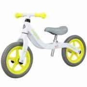 Bicicleta fara pedale pedagogica Forever Balance Bike scaun reglabil alb-galben