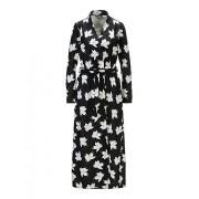 MADELEINE Robe de chambre femme noir/blanc cassé / noir