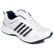 Asian Men White And Blue Lace-up Training Shoes