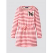 TOM TAILOR Gestreepte jurk, Kinderen, pink carnation rose, 104/110