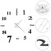 Sonata 3D стенен часовник, модерен дизайн, 100 см, XXL, черен