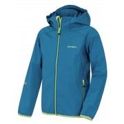 Husky Zally Kids 152-158, modrá Dětská softshellová bunda