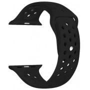 Wotchi Silikonový řemínek pro Apple Watch -Černá/Černá 42/44 mm