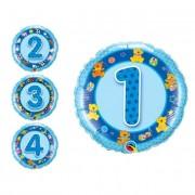 Partygram Globo redondo de números azul de 46 cm - Número 2