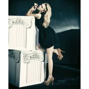 Glatte glaenzende Feinstrumpfhose Luxor 20 DEN von Omero, cognac, Gr. XL