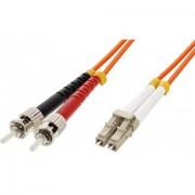Intellinet ILWL D5-STLC-100 10m ST LC Nero, Arancione, Rosso cavo a fibre ottiche