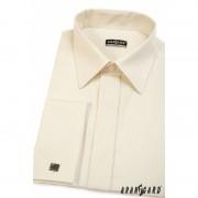 Pánská košile SLIM smetanová s úzkým proužkem 45/182 Avantgard 514-1103-45/182-1
