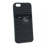 Husa Apple iPhone SE 5S 5 Silicon I Dont Care B36