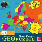 Puzzle geografic Harta Europei 58 piese