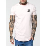 Sik Silk Short Sleeve Gym Tee Pink M
