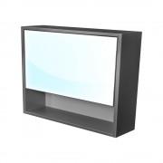 CEDERIKA - Amsterdam galerka 1x výklopné barva zrcadlo v AL rámu korpus korpus lávově šedá šíře 90 (CA.G1V.192.090) CEDERIKA