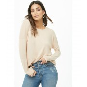 Forever21 Brushed Long Sleeve Top CHAMPAGNE
