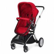 Kolica za bebe Cybex Cura, srebrne felne Rumba Red, crvena,5010421