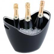 APS acryl champagne bowl groot zwart