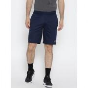 Reebok Navy Polyester Lycra Shorts