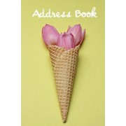 Address Book.: (Flower Edition Vol. E88) Pink Tulip in Cone Design. Glossy Cover, Large Print, Font, 6 X 9 for Contacts, Addresses, P