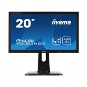 iiyama Prolite monitor LCD LED 19.5\ B2083HSD, 5ms, DVI, speakers, fekete
