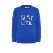 NAME IT Letter Printed Long Sleeved Blouse Blue