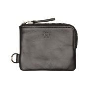 Atlas Lifestyle Co The Slim Line Zip Leather Wallet Black