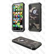 Apple iPhone X / iPhone 10 (калъф hybrid) 'Camouflage'