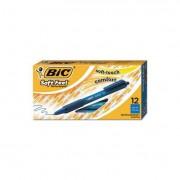 Soft Feel Retractable Ballpoint Pen, Blue Ink, .8mm, Fine, Dozen