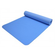 "FY-1806 Non-Slip TPE Yoga Mat 1/4"" (6mm) with Carrying Strap & Bag"