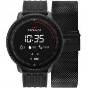 Relógio Smartwatch Technos Connect ID Preto Unissex L5AA/1P