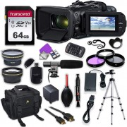Canon Vixia HF G60 UHD 4K Camcorder with Premium Accessory Kit Including Padded Bag, Microphone, Filters & 64GB High Speed U3 Memory