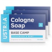 Ustraa Base Camp Cologne Soap with Cedarwood Mint (125 g Pack of 3)