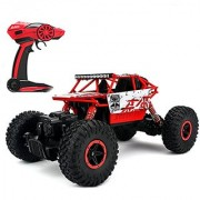 Bestale 1:18 RC Truck Off-Road Vehicle 2.4Ghz 4WD RC Cars Remote Radio Control Cars Electric Rock Crawler Electric Buggy Hobby Car (Red)